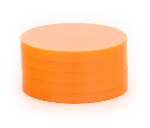 "2"" Magnetic Status Markers - ORANGE Five Pack"