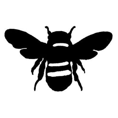 1 inch Bee rubber stamp - 1691