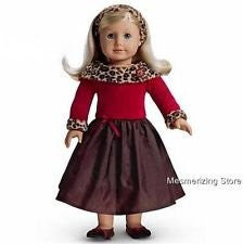 """Chocolate Cherry Dress"" for 18"" American Girl Doll"