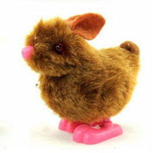 (Here) COCO toys [Brown] hopping rabbit with a stop mechanism that begins to move when you put a foot on the ground to walk Tekuteku by winding a bunny mainspring of