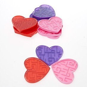 12ct Heart Maze Puzzles Novelty Game