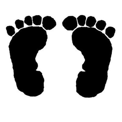 1 inch Baby Feet rubber stamp - 4271