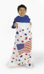 1 Dozen - Woven Polyplastic Patriotic Potato Sacks - 4th of July Independance Day!