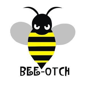 """Bee-otch"" Honey Bee Decal Sticker"