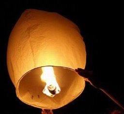 10 Sky Lanterns - White Funny and Exciting sets