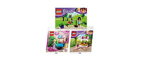 (Pack of 3) Lego - Emma's Flower Stand 30112, Stephanie's Bakery Stand 30113, Disney Princess Rapunzel's Market Visit 30116