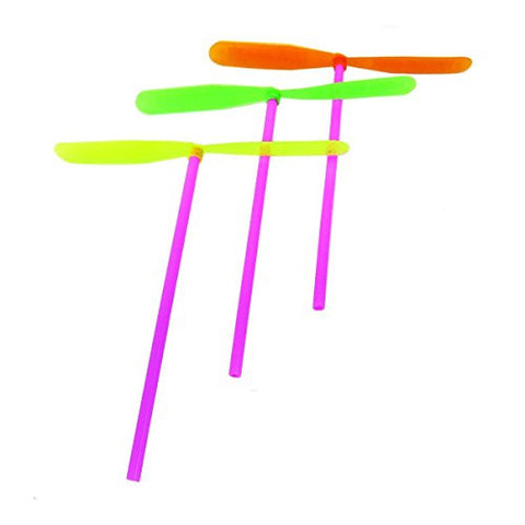 2 X Fettipop 12 Pc Plastic Dragonfly Assortement, Yellow/green/orange