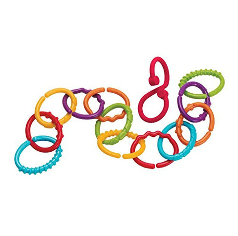 12 Colored Links & the Custom Twist Link Are Great for Teething Stroller Travel