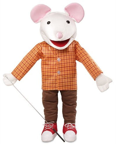 "25"" Mouse w/ Sneakers, Full Body, Ventriloquist Style, Animal Puppet"