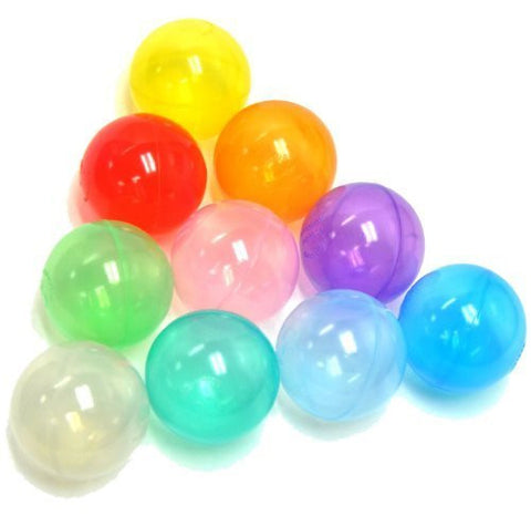 100 Wonder Playball Non-Toxic Crush Proof Quality Invisiball /w Mesh Tote, Red/Orange/Yellow/Green/Teal/Blue/Sky Blue/Purple/Pink/White by Wonder Playball