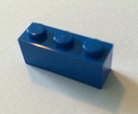 100x Lego Blue 1x3 Bricks