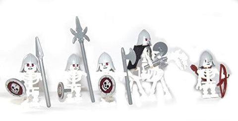 """Army of the undead"" unique LEGO® - Compilation , rare ghost horse and Skeleton Warriors"