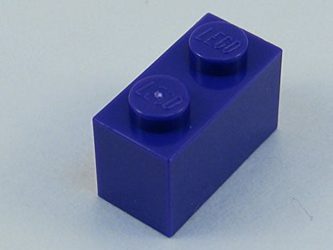 100x Lego Dark Purple 1x2 Bricks Fun Pack