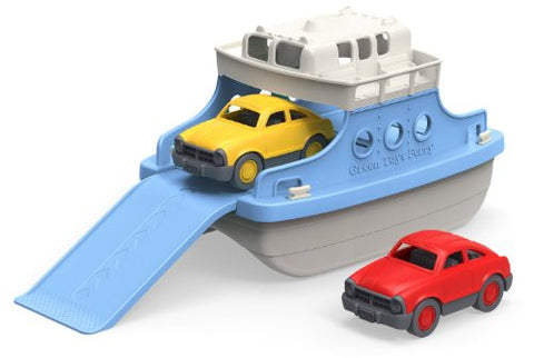 2 Colorful Cars with Ferry Boat