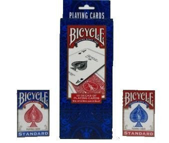 (6 pcs / red 6 blue) BICYCLE (Baisukuru) STANDARD rider back playing cards 12-pack) (japan import)