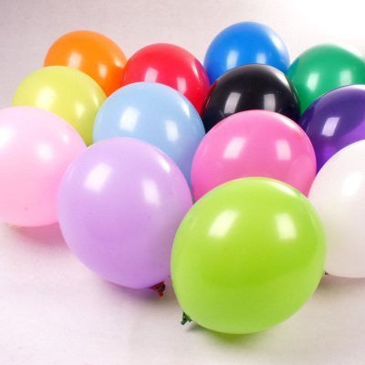 200 Pieces Bright Tone Latex Balloons( size 5'') for Birthday Holidays Wedding Party, Assorted Color
