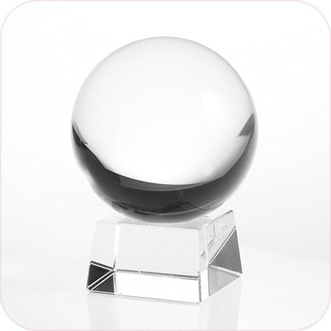 50mm (1.96 inch) Natural Clear Crystal Ball Including Crystal Stand