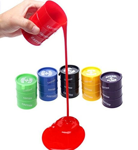 1Pcs Barrel O Slime Goo Silly Putty Gag Kids Toys Prank Party Favors Joke (Red)