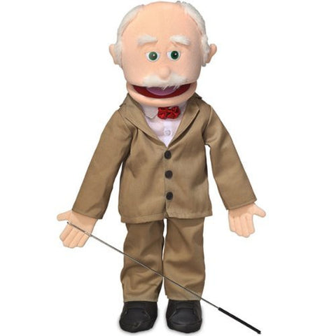 "25"" Pops, Peach Grandfather, Full Body, Ventriloquist Style Puppet"