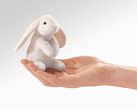 (Ship from USA) White Lop Bunny Rabbit Finger Puppet, Folkmanis MPN 2745, Boys & Girls 3 & Up -ITEM#: G15/uiF982A25147