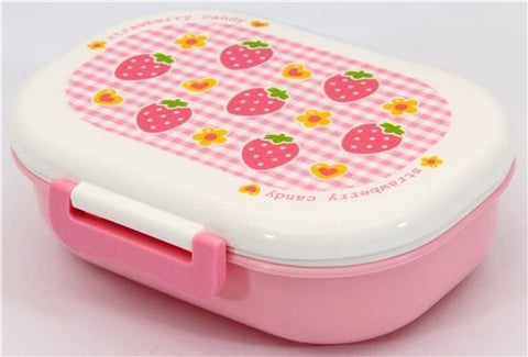 1 X adorable strawberry Bento Box pink Lunch Box by Kawaii