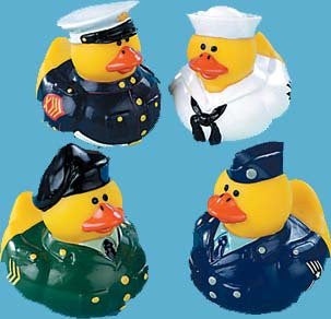 1 Dozen Armed Forces Rubber Duckies