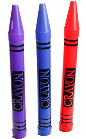 "(LOT OF 3) Large Crayon Savings Banks Blue Purple and Red 22.5"" RM2627"