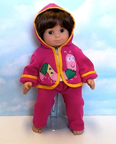 """Caterpillar Cutie"" Set in Pink. Fits 15"" Dolls like Bitty Baby and Bitty Twin"