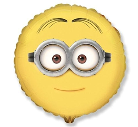 "1 BALLOON new 20"" round DESPICABLE ME MINIONS dave 2-eyes ROUND vhtf PARTY favors BIRTHDAT vhtf"