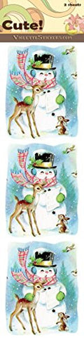 """Cute!"" Snowman with Deer Stickers"