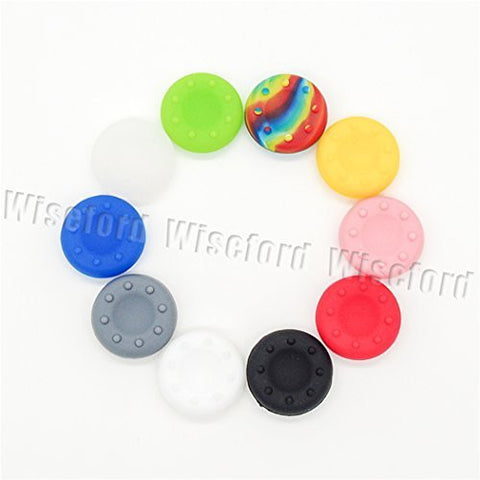 20PCS of 10 Colors Silicone Thumb Grip Analog Controllers Stick Cover Cap Thumbsitck for PS3 PS4 XBOX ONE 360 by Thumb Grip