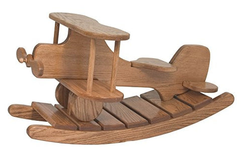 "Amish Heirlooms Solid Maple Airplane Rocker, Puritan Gray, 33.5"" by 21"" by 9.5"""