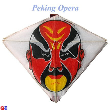10 Mini Paper Kites on a String - Man Face From Chinese Peking Opera