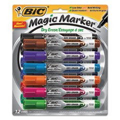 -- Magic Marker Low Odor & Bold Writing Tank Style Dry Erase Marker, Asst., 12/Pk