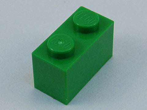 100x Lego Bright Green 1x2 Bricks Fun Pack