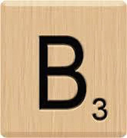 (10) GENUINE Scrabble Letter B Tiles, Scrabble for Crafts, Scrabble Game Piece Letter B, 10 Letter B, Hardwood, Individual Scrabble Tiles for Crafts,