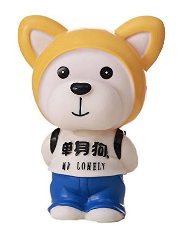"""Mr Lonely"" Dog Piggy Banks Plastic Coins Saving Bank"