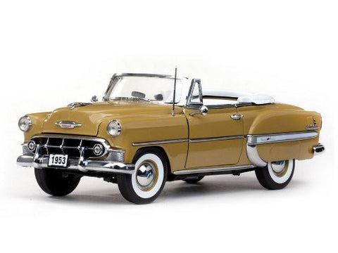 #1622 Sun Star American Collectibles 1953 Chevrolet Bel Air Open Convertible,Sun Gold 1/18th Scale Diecast Car