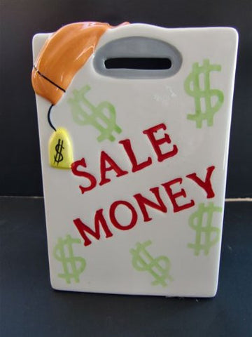 """Sale Money"" Porcelain Bank - Hand Painted"