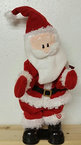 "15 Inch Santa Claus Holiday Chiller Dancer Animated Musical Plush - Plays ""Shout"""