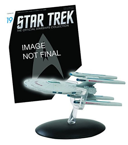 #19 Star Trek USS STARGAZER Die-Cast Metal Ship-UK/Eaglemoss w Mag