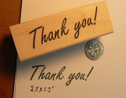 """Thank you!"" rubber stamp WM P14"