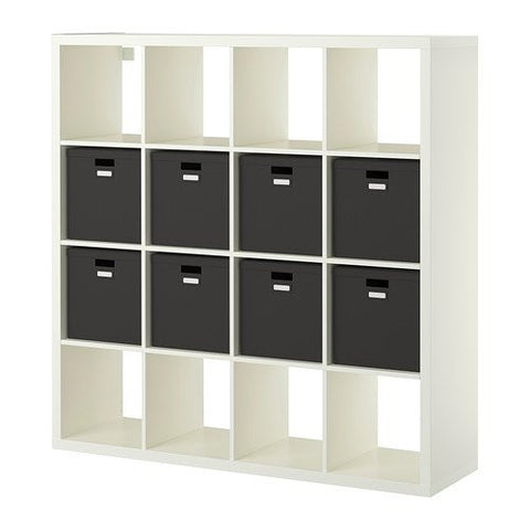 Ikea Shelf unit with 8 inserts, white 16202.11217.3438