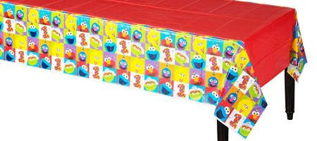 1st Birthday Elmo Sesame Street Party Supplies Table Cover Elmo Fun to be One!