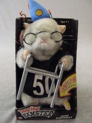 "2003 Gemmy Dancing Hamster "" 50TH BIRTHDAY "" - Singing ""Birthday"" written by John Lennon and Paul McCartney"