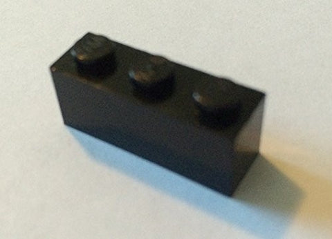 100x Lego Black 1x3 Bricks