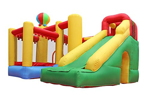10'L x 10'W Rotating Ballon Inflatable Bouncer Bounce House Stone Climbing Playhouse Slide Castle Basketball Pit with Blower