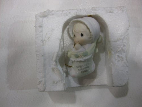 1996 Baby's First Christmas Annual Edition Stocking Ornament by Enesco