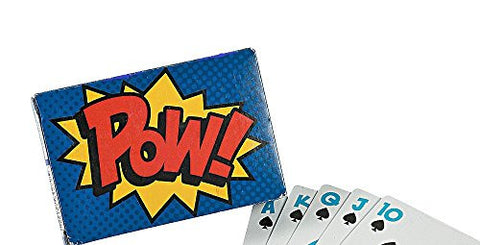 "1 Deck ~ Super Hero / POW Playing Cards ~ 54 Cards Per Deck ~ 3 1/2"" X 2 3/8"" ~ New / Shrink-wrapped"