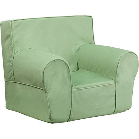 "Green Flash Furniture Small Solid Kids Chair Assembly Required Material: Cotton 28.50""W x 23""D x 22.25""H With E-book Gift"